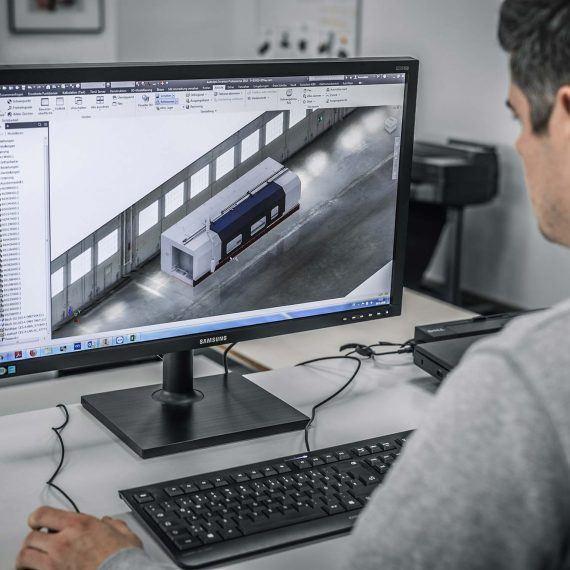 3D-Konstruktion von Maschinenschutz